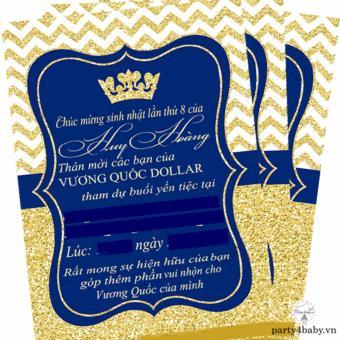 Thiệp mời Hoàng tử (10 bộ)