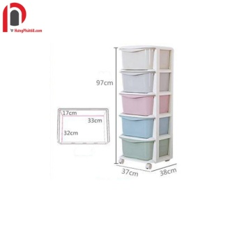 Tủ nhựa 5 ngăn 5 màu cao cấp cho bé