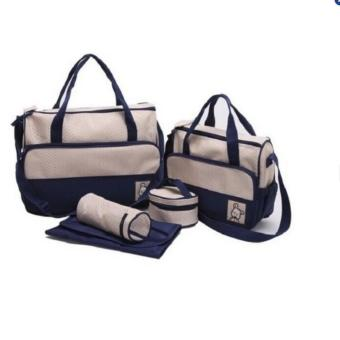 Túi đựng đồ cho mẹ và bé 5 chi tiết (xanh navy, xanh nước biển, đỏ, tím)