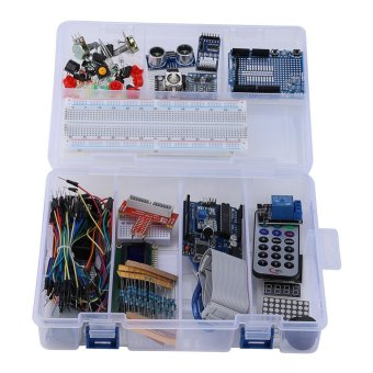 UNO R3 Starter Kit for 1602LCD Keypad Servo Motor LED Relay RTC DIY- intl