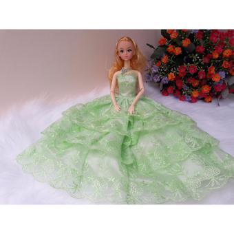 OE680TBAA68K70VNAMZ-11509944 - Váy đầm cô dâu xếp tầng cho búp bê