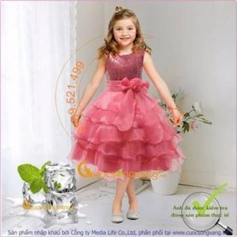 Váy ĐầM Công Chúa XếP LớP Glv031-9toi12 Đính Kim Sa