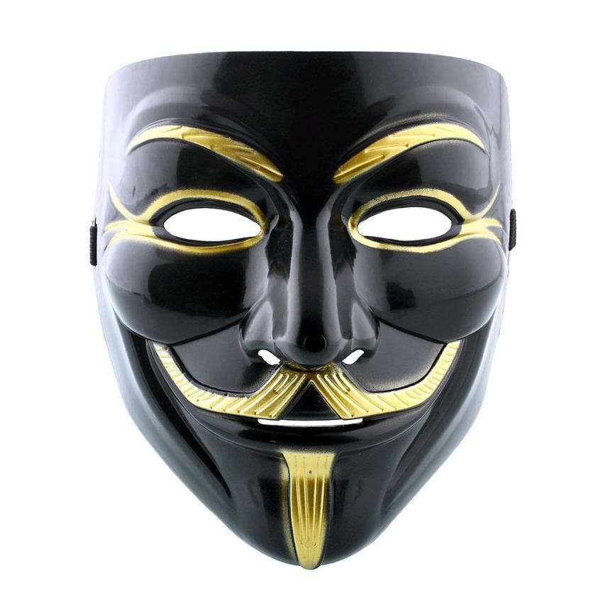 Hình ảnh Vendetta Fawkes Anonymous Black Halloween Cosplay Fancy Dressing VMask