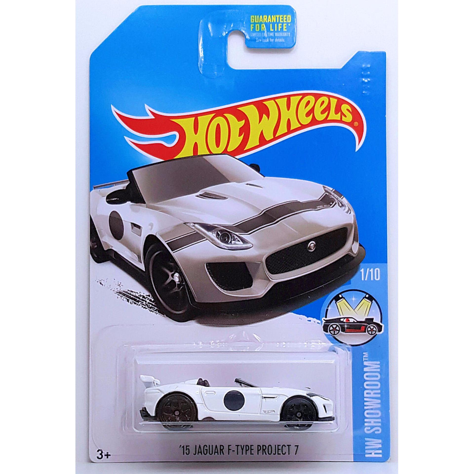 Xe mô hình tỉ lệ 1:64 Hot Wheels 2016 Kmart '15 Jaguar F-TypeProject 7 - Trắng