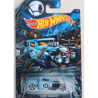 Xe ô tô mô hình tỉ lệ 1:64 Hot Wheels Halloween Bone Shaker 1/8 ( Xanh nhạt )