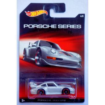 Xe ô tô mô hình tỉ lệ 1:64 Hot Wheels Porsche 993 GT2 Series 4/8 (Xám )
