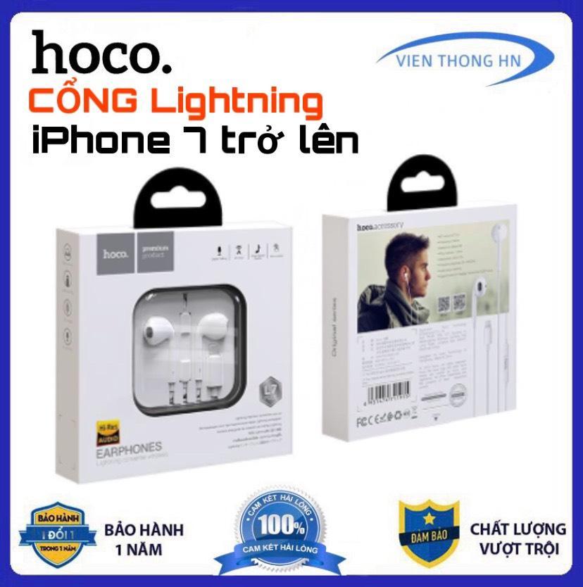 Tai nghe zin HOCO L7 Nguyên hộp cổng Lightning Apple EarPods Full Box - Cam kết như theo máy dùng cho iphone 7/7plus , 8/8plus , x/xs/xr/xsmax , x11/x11pro/x11promax