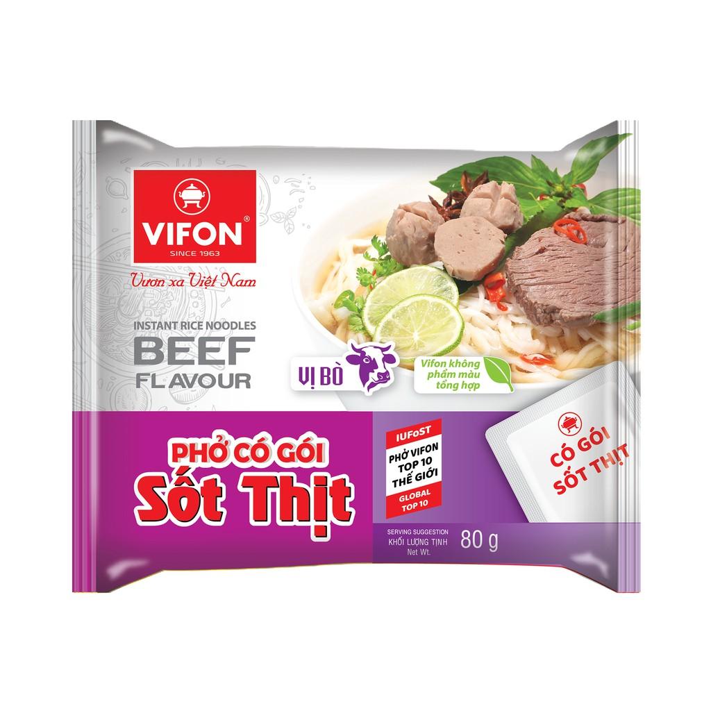 Phở Có Gói Sốt Thịt Bò 70g Vifon
