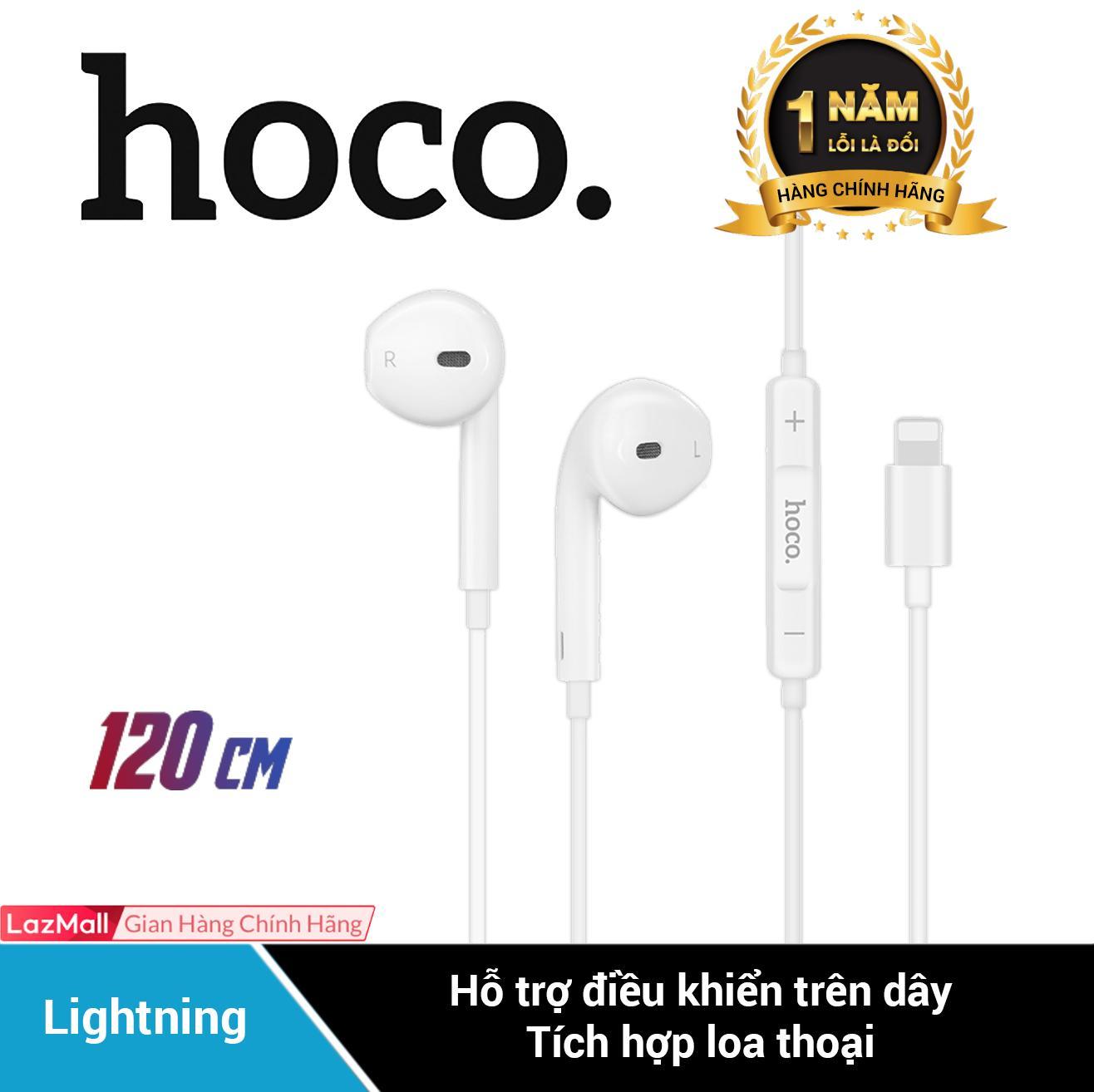 Tai nghe nhét tai cổng lightning dành cho iPhone 7Plus 8Plus X XS MAX iPhone/iPad Hoco L9 - Hãng phân phối chính thức