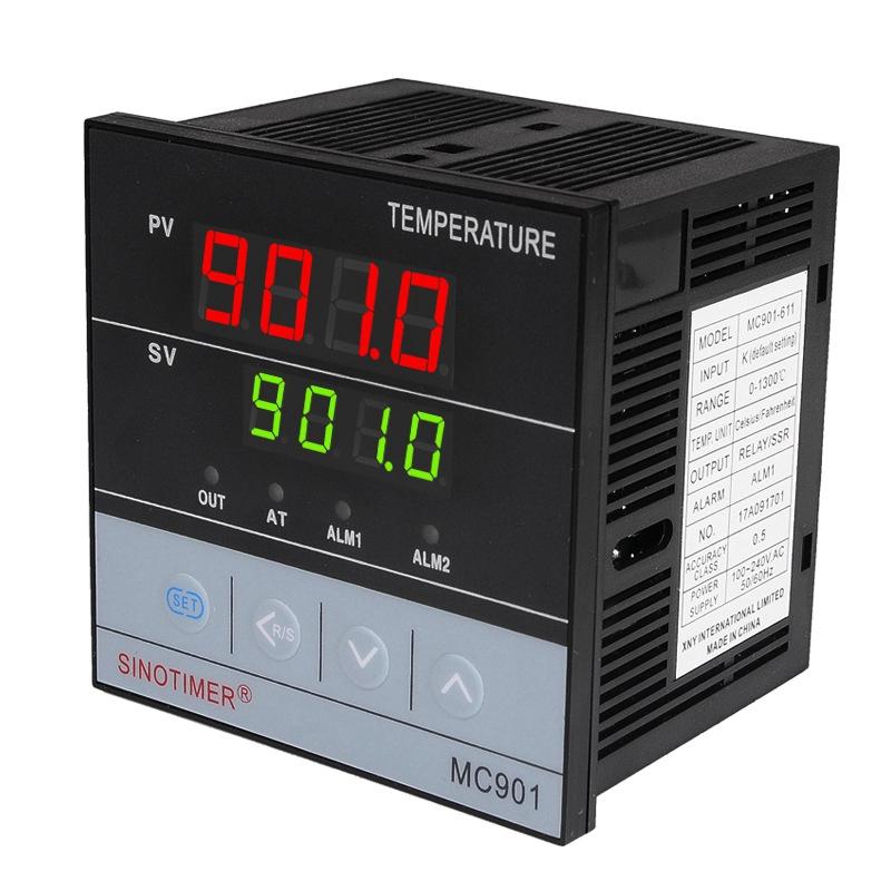 SINOTIMER MC901 Digital Waterproof PID Temperature Controller K Type PT100 Sensor Input Relay SSR Output