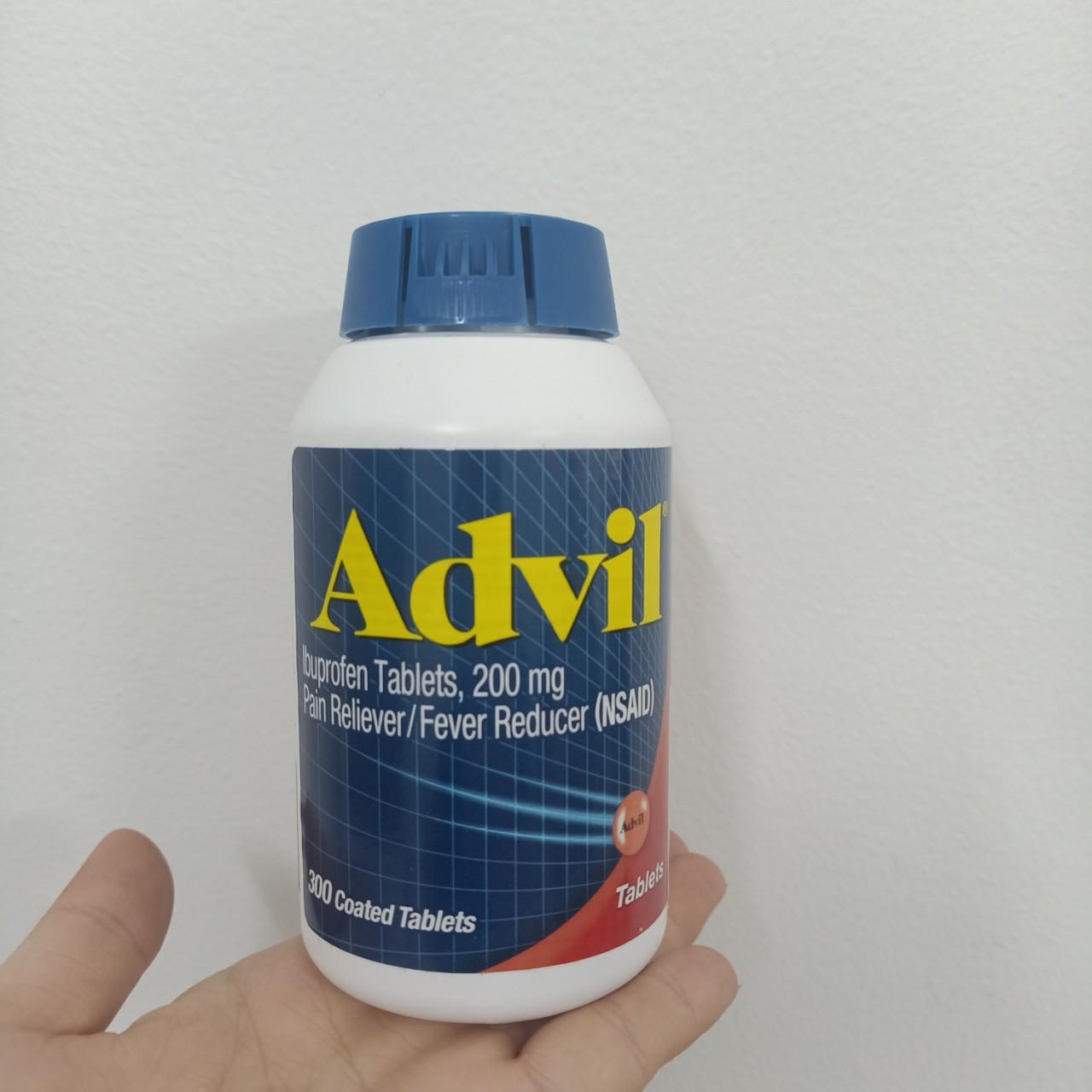 Viên Uống Advil Ibuprofen Tablest 200mg của mỹ hộp 300 viên