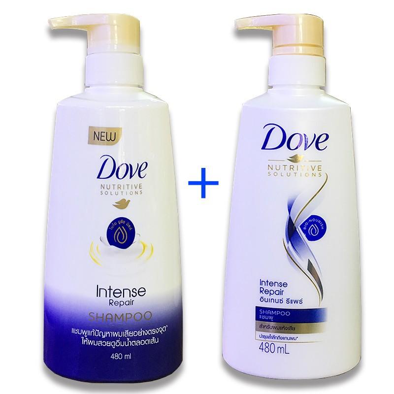 [ THƠM DỊU PHỤC HỒI TÓC ] Combo 2 chai Dầu gội Dove Thái Lan phục hồi tóc hư tổn 480ml x 2 , Hạn sử dụng đến tháng 03 năm 2022