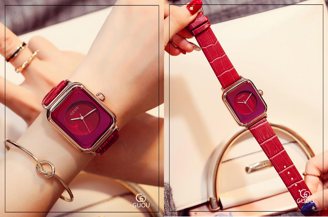 Đồng hồ Nữ GUOU Dây Mềm Mại đeo rất êm tay, Chống Nước Tốt, Bảo Hành Máy 12 Tháng Toàn Quốc 17