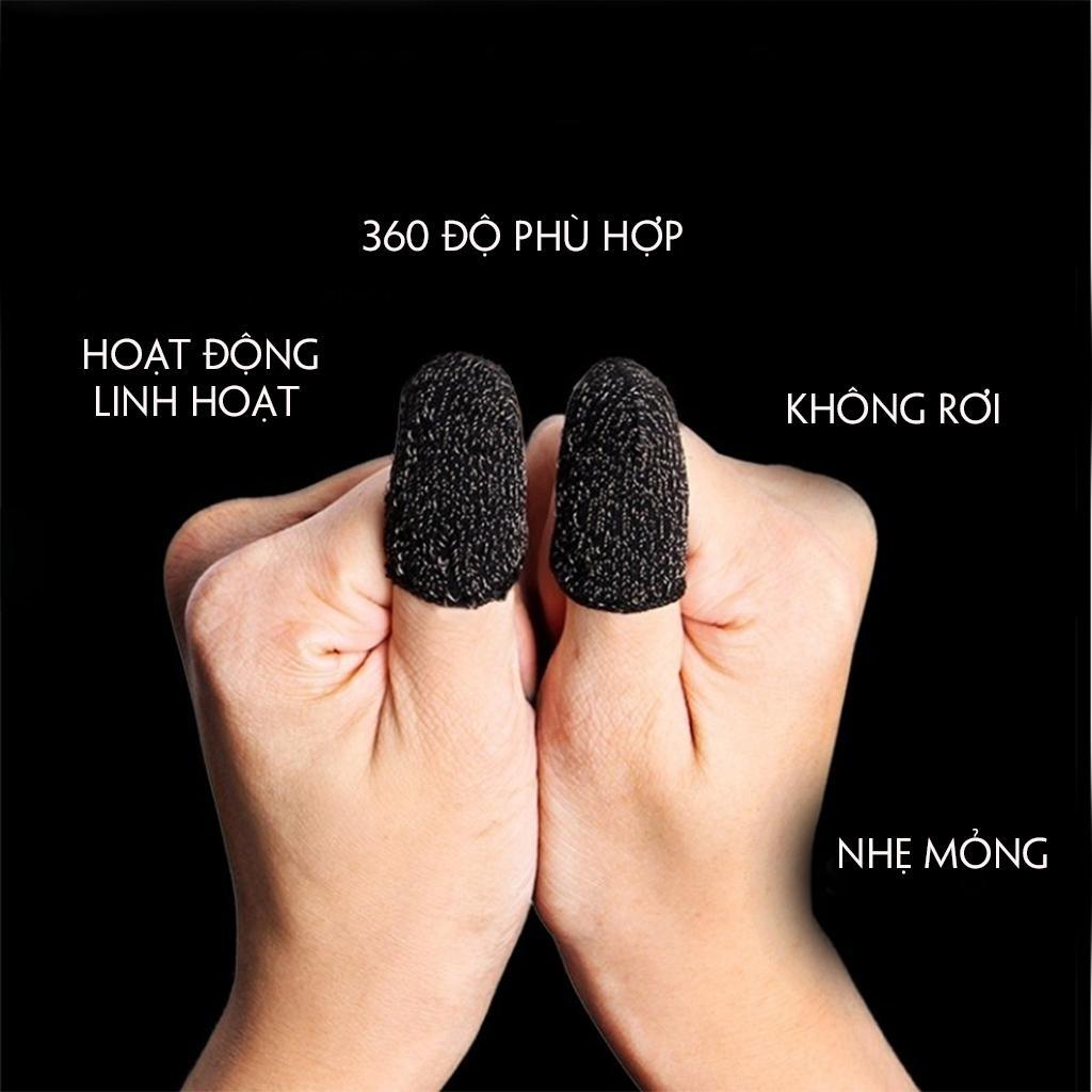 [MẪU MỚI] Bộ bao 2 ngón tay chuyên dụng chơi game mobile chống ra mồ hôi tay, chất liệu sợi carbon thoáng mát, cảm ứng cực nhạy, độ co giãn cao 4