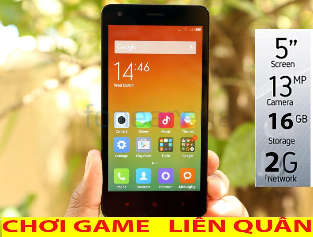 Điện thoại 2 sim pin trâu xiaomi 16GB ROM - 2GB RAM - ROM 16G - RAM 2GB siêu mạnh - cảm ứng cấu hình cao