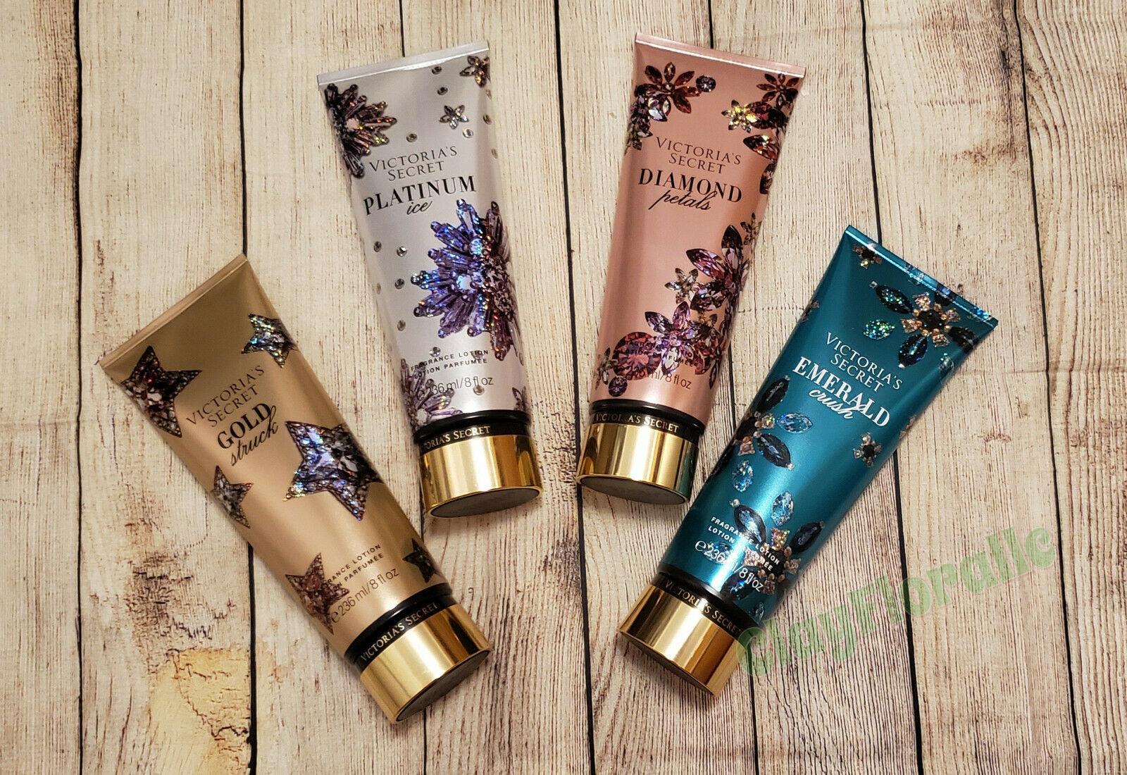 Platinum Ice - Diamond Petals - Gold Struck Victoria's Secret Winter Dazzle Fragrance Lotion 236ml