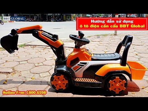 Ô tô điện trẻ em cần cẩu BBT-996, ô tô cho điện cho bé, ô tô điện trẻ em