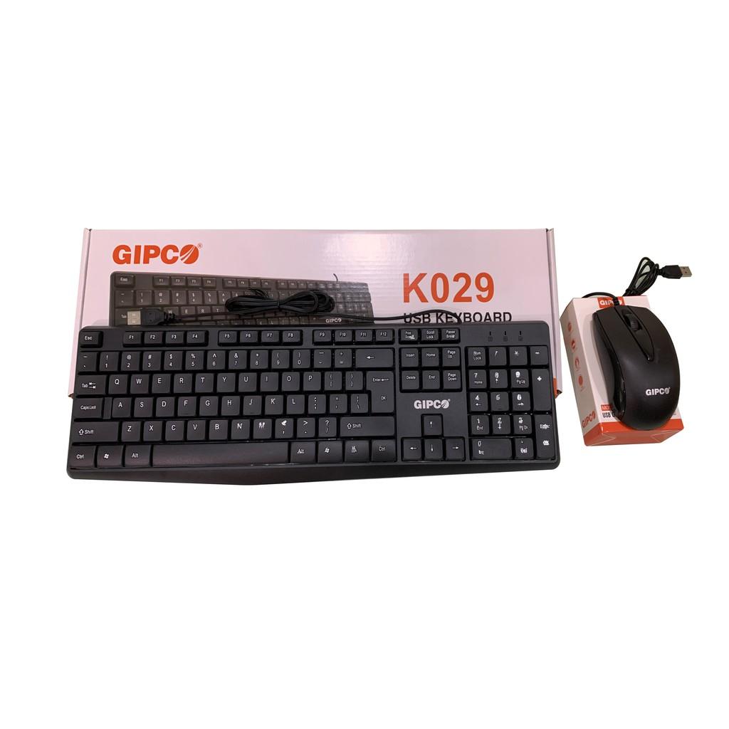 Bộ phím chuột có dây Gipco- Phím K029 + Chuột M059 chính hãng