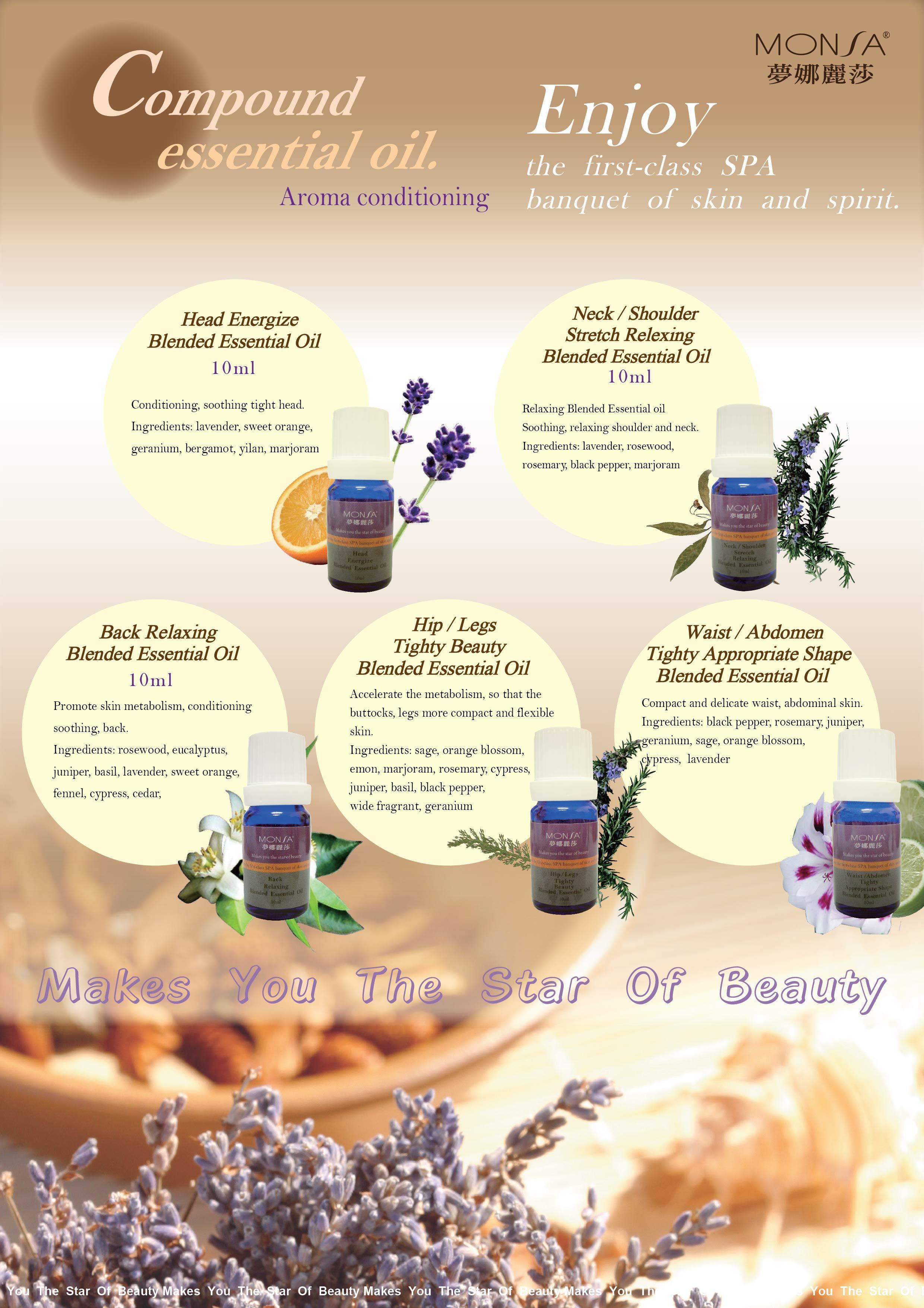 Thanh Phương Tinh Dầu Monsa Head Energize Blended Essential Oil 10ml 1