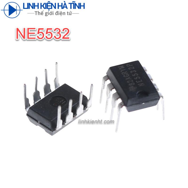 4 CON IC KHUẾCH ĐẠI NE5532P NE5532 DIP-8 CHÍNH HÃNG