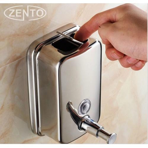 Hộp đựng nước rửa tay xà phòng nhấn treo tường inox - XPIN