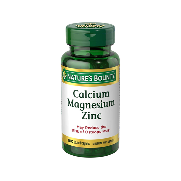 Viên Uống Nature's Bounty Calcium Magnesium Zinc 100v – Mỹ 01/2023