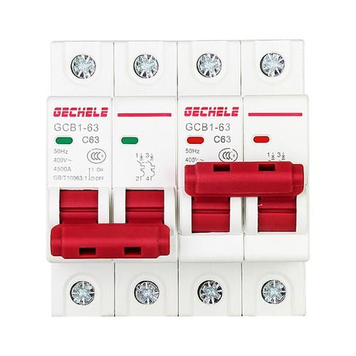Át đảo chiều 63A GECHELE cầu dao đảo chiều dạng aptomat có khóa liên động không lo chập cháy, át chuyển nguồn, át chuyển đổi 2 nguồn điện