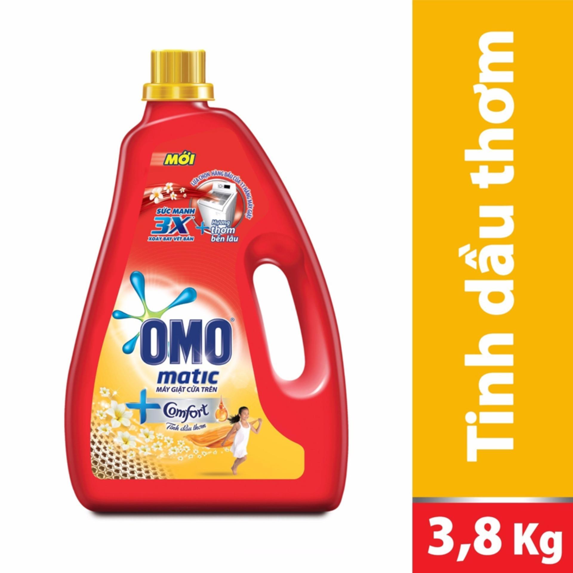 Nước giặt máy Omo hương Comfort tinh dầu thơm 3.8kg