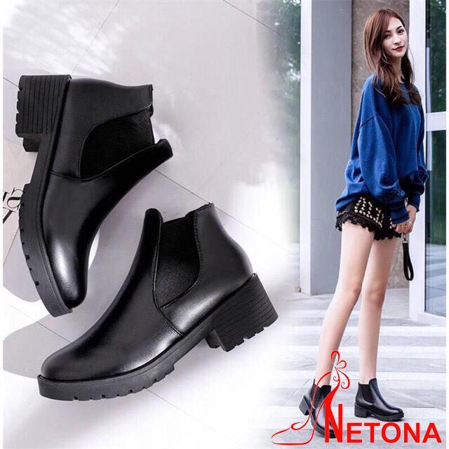 Giày Boot Cổ Chun Thời Trang Cao Cấp BT1