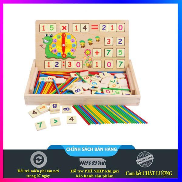 Bảng gỗ học toán ghép hình dạng Hộp gỗ thông Đồ chơi giáo dục thông minh - KXM01
