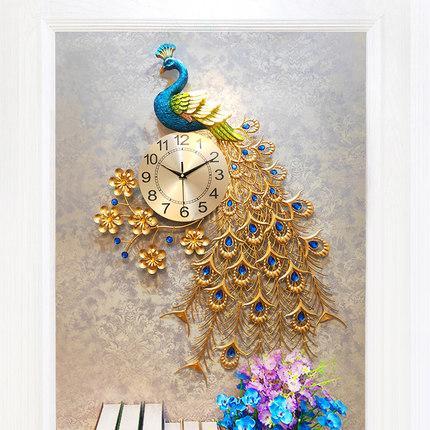 Đồng hồ treo tường con công 3D cá tính, Đồng Hồ 3 chiều thời trang, hiện đại mang đến cho căn phòng sự Ấm Áp và Sang Trọng, Qùa Tân Gia, Qùa Cưới Lịch Sự, Tinh Tế, Độc Đáo