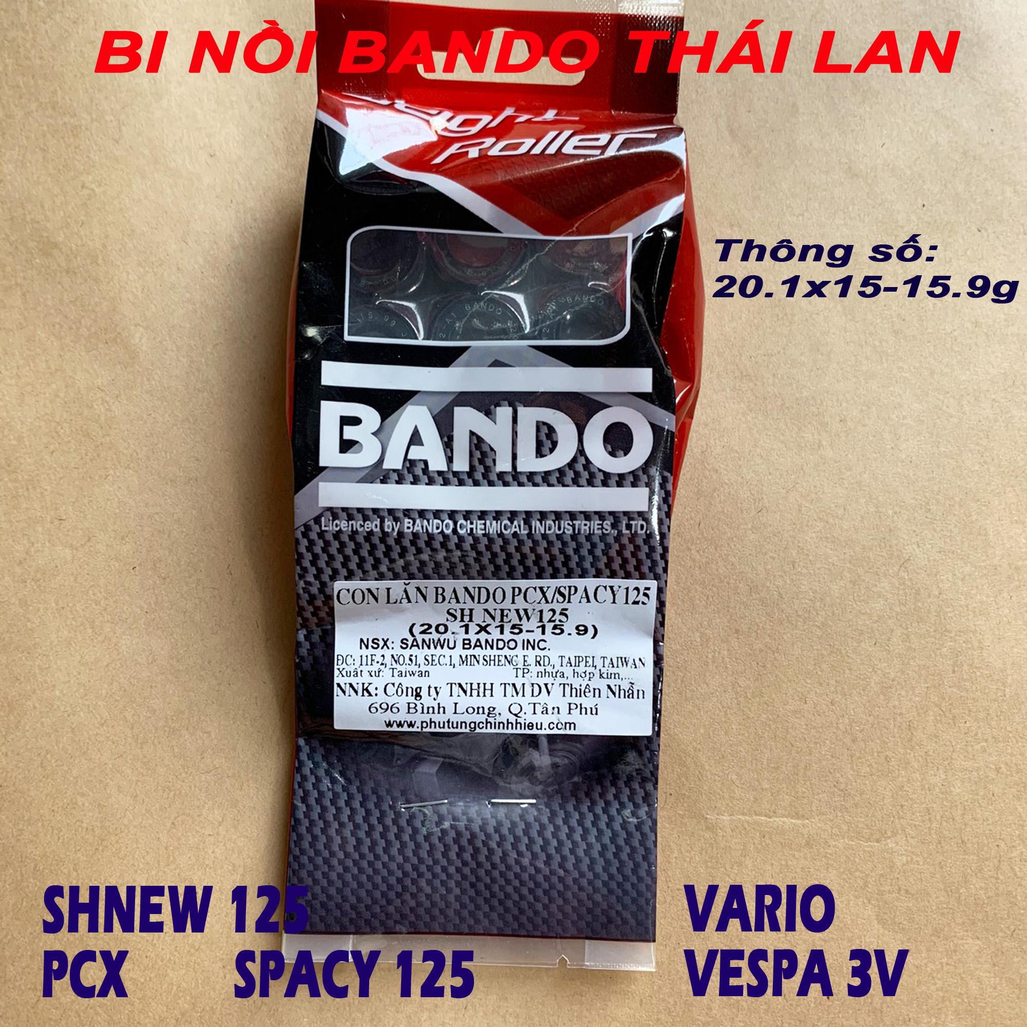 Bi nồi bando 15.9g cho Honda Vario PCX SHNew 125 Spacy 125 - Thái Lan