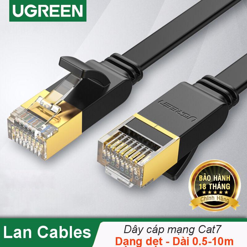 Cáp mạng 2 đầu đúc Cat7 UTP Patch Cords dạng dẹt dài từ 0.5-10M UGREEN NW106