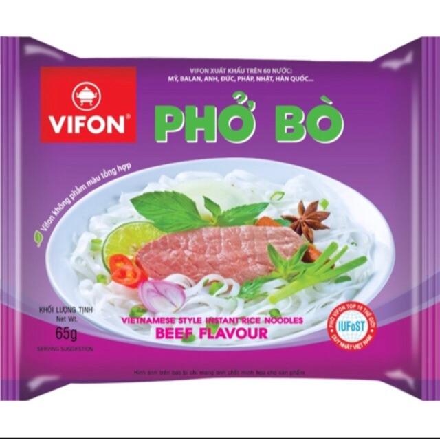 1 Gói Phở Bò/ Bún Bò Huế Vifon 65g - Phở bò