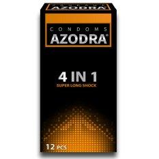 Bao cao su tổng hợp gân, gai, mỏng, kéo dài thời gian quan hệ Azodra 12 bao