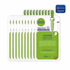 Địa Chỉ Bán Bộ 10 gói Mặt nạ dưỡng da trị mụn chiết xuất trà xanh Mediheal Teatree Healing solution Essential Mask 25ml x10