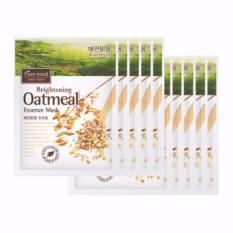 Bộ 10 mặt nạ cấp ẩm, se khít lỗ chân lông Pure Mind chiết xuất yến mạch Brightening Oatmeal Essence Mask