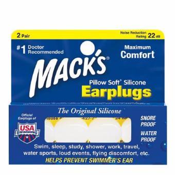 Bộ 2 cặp nút bịt tai bằng silicon Mack