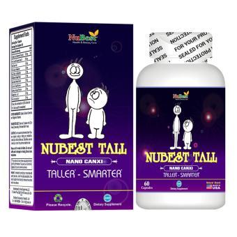 Không tốn kém mua Bộ 3 hộp Thực phẩm Tăng chiều cao của Mỹ Nubest Tall x 60 viên (Tặng 01 hộp cùng loại)