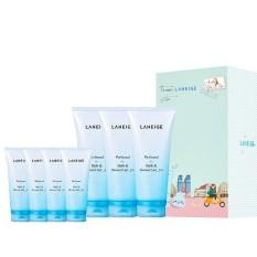 Bộ 3 chai sữa tắm dưỡng ẩm và sáng da Laneige 200ml + Bộ 4 chai sữatắm dưỡng ẩm và sáng da Laneige 100ml
