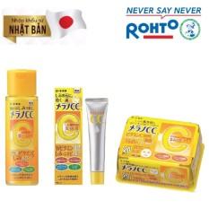"""Bảng Giá Bộ """"Yêu da trắng hồng"""" ( Dung dịch dưỡng trắng Melano CC Lotion + Tinh chất dưỡng trắng Melano CC Essence + Mặt nạ dưỡng trắng Melano CC Mask)"""