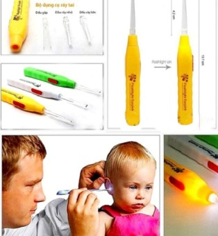Bộ 4 dụng cụ lấy ráy tai có đèn ST-TAI01