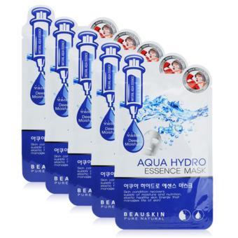 Bộ 5 miếng mặt nạ tái tạo, bổ sung collagen cho da Aqua Hydro Essence Mask Cao cấp Hàn Quốc 20ml - Hàng Chính Hãng
