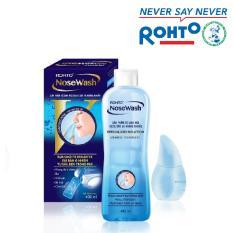 Bộ sản phẩm vệ sinh mũi Rohto NoseWash (1 bình vệ sinh mũi Easy Shower và 1 bình dung dịch 400 ml)