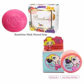 Bộ xà bông kích trắng Bumebime Mask Natural + kem trị thâm nách I-doll Thái Lan