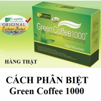 Cafe giảm cân Green coffee leptin 1000 (18 gói )