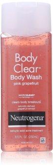 Gel tắm trị mụn Neutrogena Body Clear Body Wash, Pink Grapefruit250ml