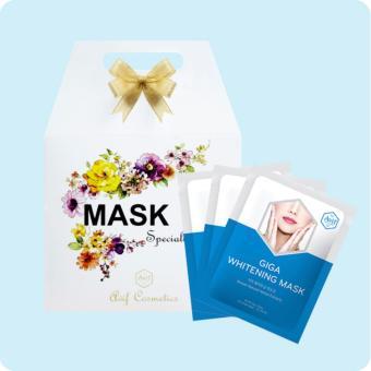 Hộp 10 mặt nạ dưỡng trắng da [Avif Giga Whitening Mask] 10gói x 21g
