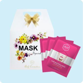 Hộp 10 mặt nạ dưỡng trắng da [Avif Pure Whitening Mask] 10gói x 21g