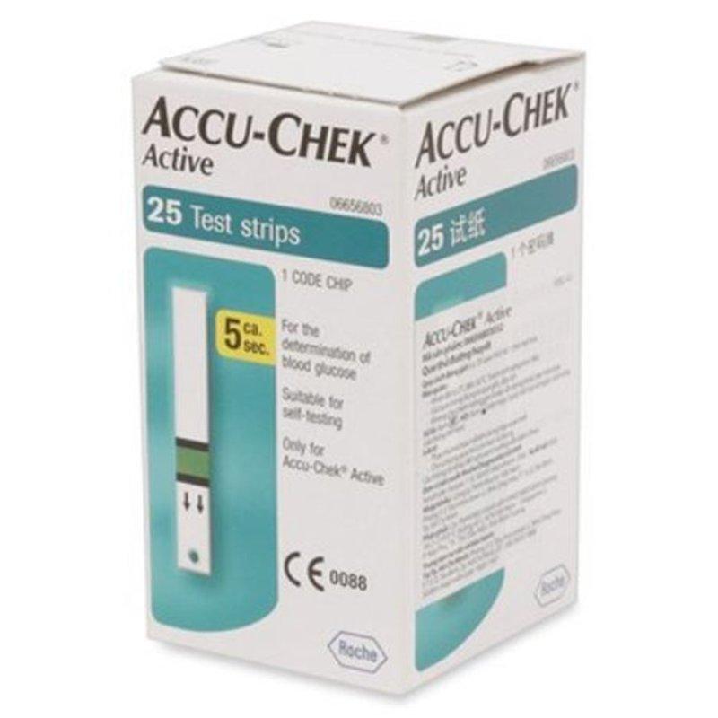 Nơi bán Hộp 25 que thử đường huyết Accu-check Active